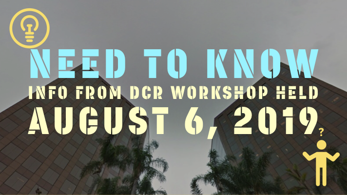 ALL YOU NEED TO KNOW ABOUT THE DCR PHASE 3 ROUND 1 LICENSING AND SOCIAL EQUITY WORKSHOP HELD ON AUGUST 6, 2019