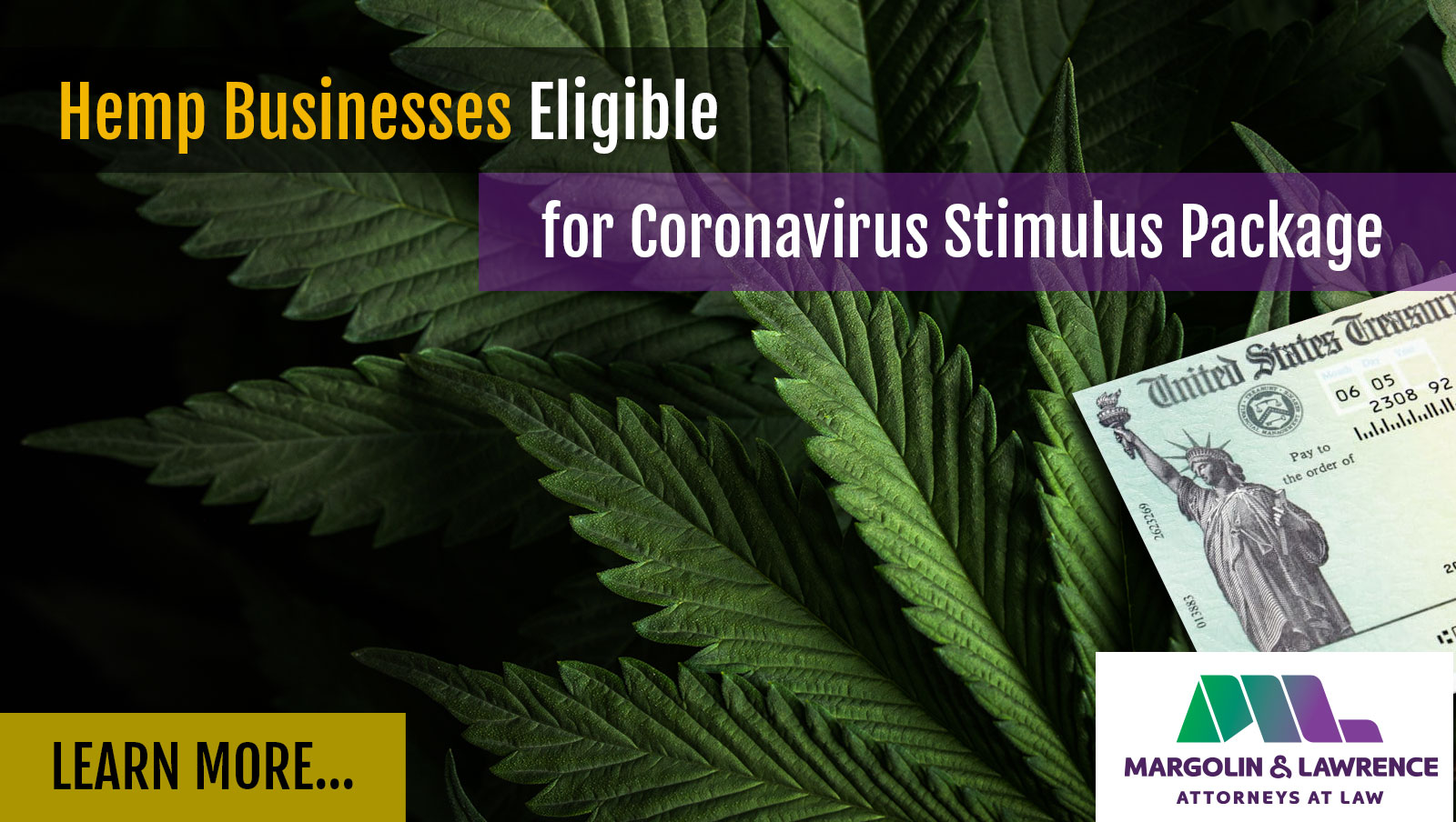 Hemp Businesses Eligible for Coronavirus Stimulus Package
