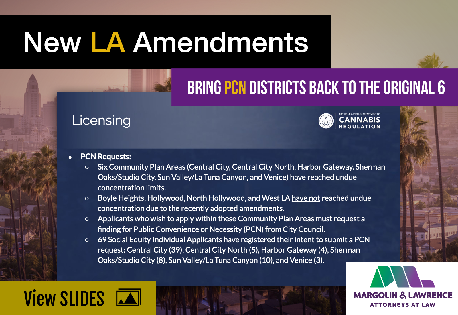 New LA Amendments Bring PCN Districts Back to the Original 6