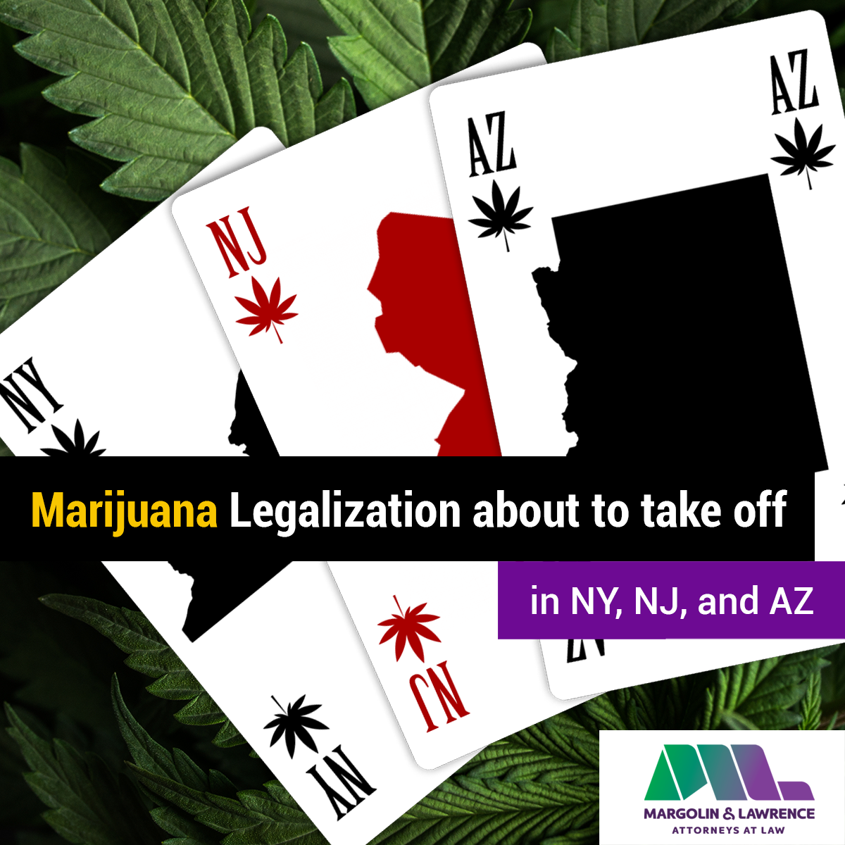 Marijuana Legalization about to take off in NY, NJ, and AZ