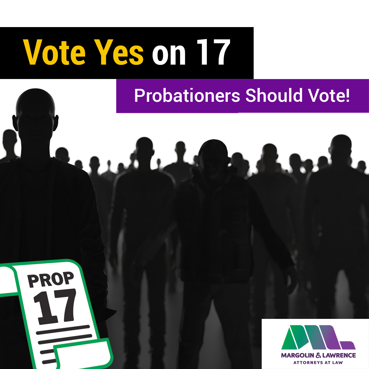 Vote Yes on 17; Parolees Should Vote!